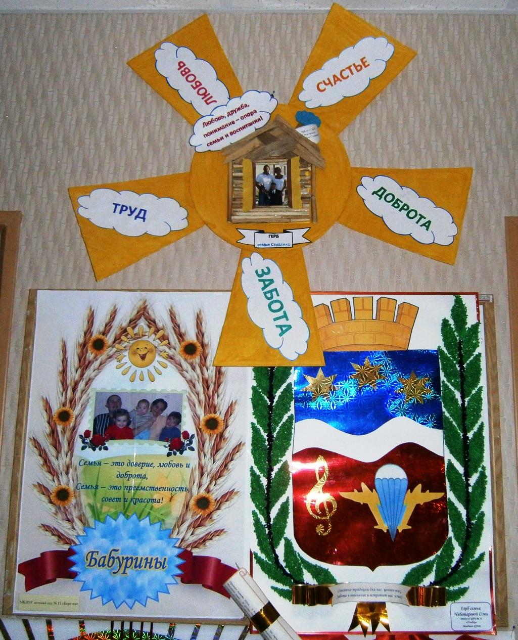 Семейный герб в детский сад своими руками
